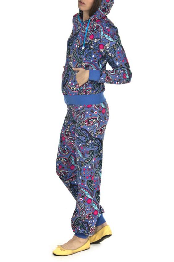 КостюмСпортивные костюмы<br>Спортивный костюм из эластичного трикотажа. Отличный выбор для занятий спортом или активного отдыха  Цвет: синий, розовый, голубой  Рост девушки-фотомодели 180 см.<br><br>По рисунку: Цветные,С принтом<br>По сезону: Весна,Осень<br>По силуэту: Полуприталенные<br>По форме: Костюм двойка,Спортивные брюки<br>По элементам: С капюшоном,С карманами,С манжетами<br>Рукав: Длинный рукав<br>По стилю: Спортивный стиль,Повседневный стиль<br>Застежка: С молнией<br>По материалу: Трикотаж,Хлопок<br>Размер : 46,48,50,54,56<br>Материал: Трикотаж<br>Количество в наличии: 9