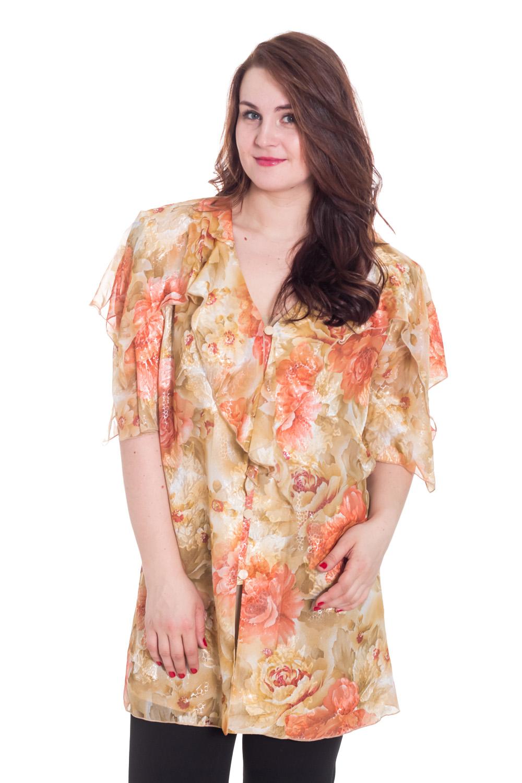 ТвинсетТвинсеты<br>Прекрасный твинсет состоит из блузки и кардигана. Модель выполнена из воздушного шифона. Отличный выбор для любого случая.  Цвет: бежевый, коралловый  Рост девушки-фотомодели 180 см<br><br>По образу: Свидание,Город<br>По стилю: Нарядный стиль,Повседневный стиль<br>По материалу: Шифон<br>По рисунку: Цветочные,Растительные мотивы,С принтом,Цветные<br>По сезону: Всесезон,Весна,Зима,Лето,Осень<br>По силуэту: Полуприталенные<br>Рукав: До локтя<br>Размер: 66<br>Материал: 100% полиэстер<br>Количество в наличии: 2