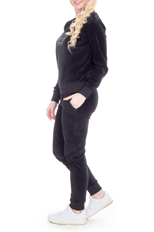 КостюмКомплекты и костюмы<br>Трикотажная костюм кофта+брюки. Домашняя одежда, прежде всего, должна быть удобной, практичной и красивой. В наших изделиях Вы будете чувствовать себя комфортно, особенно, по вечерам после трудового дня.  Цвет: черный.  Рост девушки-фотомодели - 170 см<br><br>Горловина: С- горловина<br>По рисунку: Однотонные<br>По сезону: Весна,Зима,Лето,Осень,Всесезон<br>По силуэту: Полуприталенные<br>Рукав: Длинный рукав<br>По материалу: Трикотаж<br>По форме: Брючный костюм<br>Размер : 44<br>Материал: Трикотаж<br>Количество в наличии: 1