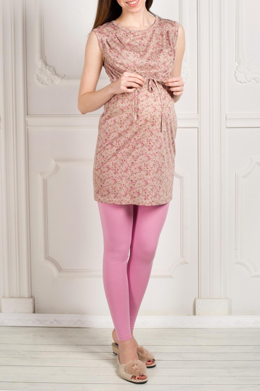 КомплектОдежда для дома<br>Трикотажный костюм состоит из лосин и туники. Домашняя одежда, прежде всего, должна быть удобной, практичной и красивой. В наших изделиях Вы будете чувствовать себя комфортно, особенно, по вечерам.  За счет свободного кроя и эластичного материала изделие можно носить во время беременности.  Цвет: бежевый, розовый.<br><br>По сезону: Всесезон<br>Горловина: С- горловина<br>По длине: Макси<br>По рисунку: С принтом,Цветные,Цветочные<br>По силуэту: Приталенные<br>Рукав: Без рукавов<br>Размер : 42,44,46,48,50,52<br>Материал: Трикотаж<br>Количество в наличии: 6