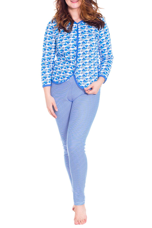 ПижамаПижамы<br>Теплая пижама состоит из кофточки и брюк. Домашняя одежда, прежде всего, должна быть удобной, практичной и красивой. В пижаме Вы будете чувствовать себя комфортно, особенно, по вечерам после трудового дня.  Цвет: голубой, белый  Рост девушки-фотомодели 180 см<br><br>По длине: Макси<br>По рисунку: Цветные,С принтом<br>По сезону: Зима<br>По силуэту: Полуприталенные<br>По форме: Брючные,Костюм двойка<br>Горловина: V- горловина<br>Рукав: Длинный рукав<br>По материалу: Трикотаж,Хлопок<br>Размер : 54<br>Материал: Хлопок<br>Количество в наличии: 1