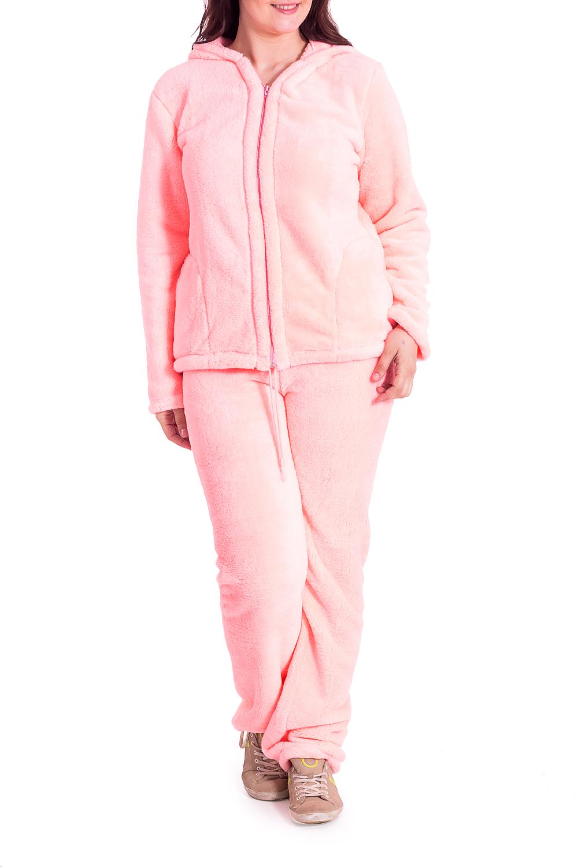 ПижамаКомплекты и костюмы<br>Теплая и уютная пижама из велсофта. Отличный выбор для домашнего отдыха.В изделии использованы цвета: кораллово-розовыйРост девушки-фотомодели 180 см.<br><br>Рукав: Длинный рукав<br>Длина: Макси<br>Материал: Велсофт<br>Рисунок: Однотонные<br>Сезон: Весна,Всесезон,Зима,Лето,Осень<br>Силуэт: Полуприталенные<br>Форма: Брючный костюм,Костюм двойка<br>Элементы: С карманами,С молнией<br>Размер : 52-54<br>Материал: Велсофт<br>Количество в наличии: 2