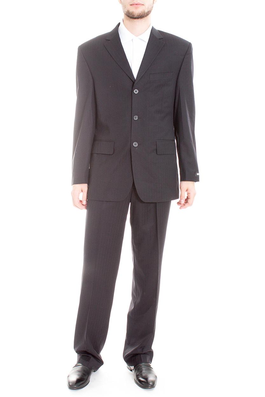 КостюмКостюмы<br>Мужской деловой костюм в полоску.  Цвет: черный  Ростовка изделия: 182 см.  Рост мужчины-фотомодели 182 см<br><br>По сезону: Всесезон<br>Размер : 48,50,54,56<br>Материал: Костюмная ткань<br>Количество в наличии: 5