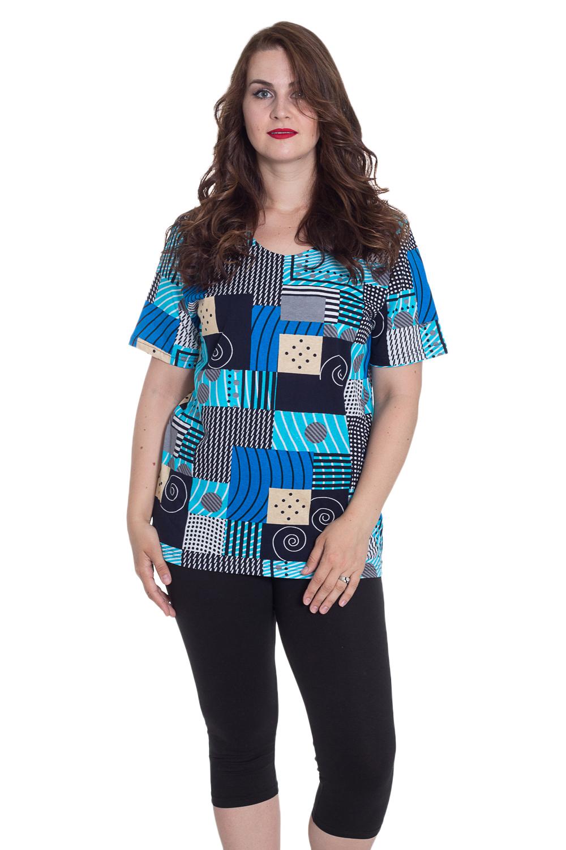 КомплектКомплекты и костюмы<br>Домашний комплект состоит из туники и бридж. Домашняя одежда, прежде всего, должна быть удобной, практичной и красивой. В наших изделиях Вы будете чувствовать себя комфортно, особенно, по вечерам после трудового дня.  Цвет: черный, голубой, синий  Рост девушки-фотомодели 180 см<br><br>Горловина: С- горловина<br>По длине: Миди<br>По материалу: Трикотажные,Хлопковые<br>По рисунку: С принтом (печатью),Цветные<br>По сезону: Весна,Зима,Лето,Осень,Всесезон<br>По силуэту: Полуприталенные<br>По стилю: Повседневные<br>По форме: Брючные,Костюм двойка<br>Рукав: Короткий рукав<br>Размер : 54,58,64<br>Материал: Трикотаж<br>Количество в наличии: 1