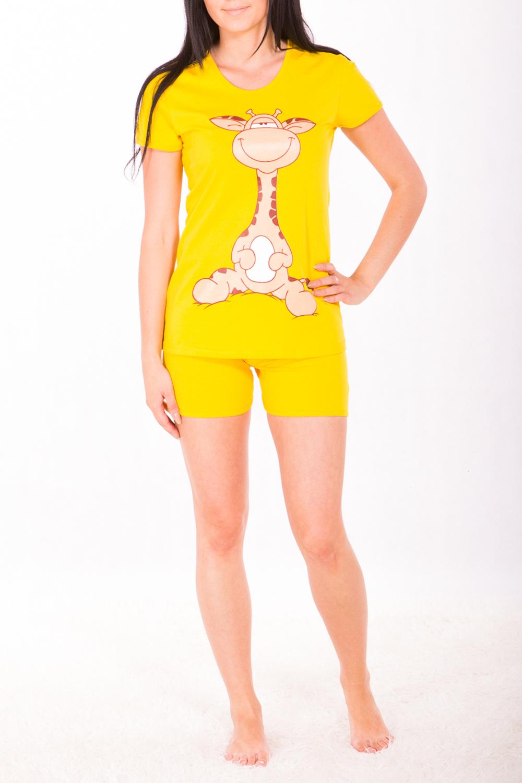 КомплектКомплекты и костюмы<br>Комплект (футболка + шоты). Домашняя одежда, прежде всего, должна быть удобной, практичной и красивой. В комплекте Вы будете чувствовать себя комфортно, особенно, по вечерам после трудового дня. Цвет: желтый.<br><br>Горловина: С- горловина<br>По рисунку: Мультипликация<br>По сезону: Весна,Всесезон,Зима,Лето,Осень<br>По силуэту: Приталенные<br>По форме: Брючные,Костюм двойка<br>По элементам: С декором,Отделка строчкой<br>Рукав: Короткий рукав<br>По длине: До колена<br>По материалу: Хлопок<br>Размер : 48<br>Материал: Хлопок<br>Количество в наличии: 2