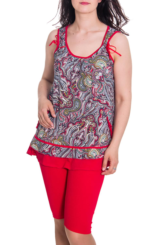 КомплектКомплекты и костюмы<br>Женский комплект без рукавов. Домашняя одежда, прежде всего, должна быть удобной, практичной и красивой. В комплекте Вы будете чувствовать себя комфортно, особенно, по вечерам после трудового дня.  Цвет: серый, красный  Рост девушки-фотомодели 180 см<br><br>Горловина: С- горловина<br>По рисунку: Цветные,С принтом,Этнические<br>По сезону: Весна,Осень,Всесезон,Зима,Лето<br>По силуэту: Полуприталенные<br>По форме: Костюм двойка,Брючный костюм<br>По материалу: Хлопок<br>Рукав: Без рукавов<br>По длине: До колена<br>Размер : 42,44,46<br>Материал: Хлопок<br>Количество в наличии: 5