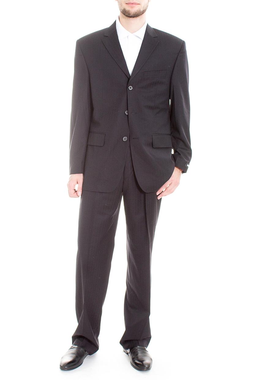 КостюмКостюмы<br>Мужской деловой костюм в полоску.  Цвет: черный  Ростовка изделия: 188 см.  Рост мужчины-фотомодели 182 см<br><br>По сезону: Всесезон<br>Размер : 50,52,54,56,58<br>Материал: Костюмная ткань<br>Количество в наличии: 6