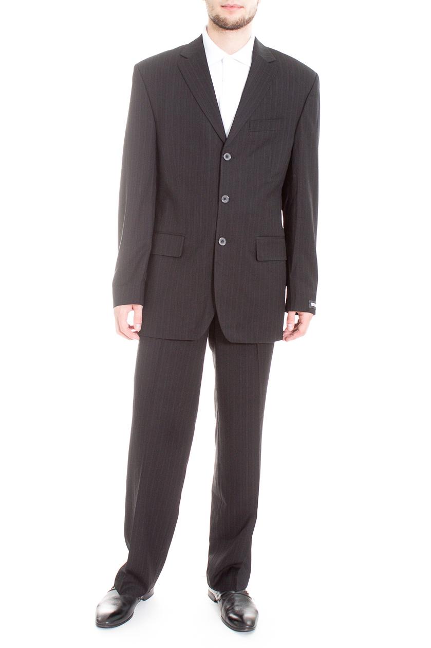 КостюмКостюмы<br>Мужской деловой костюм в полоску.  Цвет: черный  Ростовка изделия: 176 см.  Рост мужчины-фотомодели 182 см<br><br>По сезону: Всесезон<br>Размер : 50<br>Материал: Костюмная ткань<br>Количество в наличии: 1