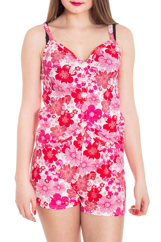 ПижамаПижамы<br>Хлопковая пижама состоит из майки и шортиков. Домашняя одежда, прежде всего, должна быть удобной, практичной и красивой. В наших изделиях Вы будете чувствовать себя комфортно, особенно, по вечерам после трудового дня.  Цвет: розовый, белый  Рост девушки-фотомодели 180 см<br><br>Бретели: Тонкие бретели<br>По рисунку: Растительные мотивы,Цветные,Цветочные,С принтом<br>По силуэту: Полуприталенные<br>По форме: Костюм двойка,Брючный костюм<br>По сезону: Лето,Весна,Всесезон,Зима,Осень<br>Рукав: Без рукавов<br>По материалу: Хлопок<br>По длине: До колена<br>Размер : 42,44,46,48,50,52<br>Материал: Трикотаж<br>Количество в наличии: 119