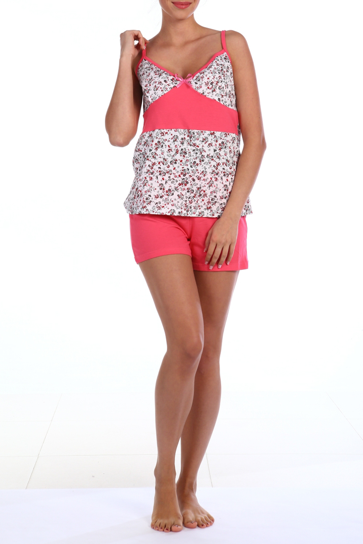 ПижамаПижамы<br>Хлопковая пижама состоит из майки и шортиков. Домашняя одежда, прежде всего, должна быть удобной, практичной и красивой. В пижаме Вы будете чувствовать себя комфортно, особенно, по вечерам после трудового дня.  В изделии использованы цвета: розовый, белый и др.  Ростовка изделия 170 см.<br><br>Бретели: Тонкие бретели<br>По длине: До колена<br>По материалу: Хлопок<br>По рисунку: Растительные мотивы,С принтом,Цветные,Цветочные<br>По сезону: Весна,Зима,Лето,Осень,Всесезон<br>По силуэту: Приталенные<br>По форме: Брючные,Костюм двойка<br>Рукав: Без рукавов<br>Размер : 54<br>Материал: Хлопок<br>Количество в наличии: 1