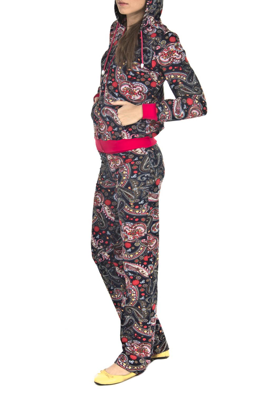 КостюмКомплекты и костюмы<br>Женский костюм с длинными рукавами. Костюм состоит из кофты и брюк. Домашняя одежда, прежде всего, должна быть удобной, практичной и красивой. В костюме Вы будете чувствовать себя комфортно, особенно, по вечерам после трудового дня.  Цвет: серый, розовый<br><br>По длине: Макси<br>По рисунку: Цветные,Этнические,С принтом<br>По сезону: Зима<br>По силуэту: Полуприталенные<br>По форме: Брючные,Костюм двойка<br>По элементам: С карманами,С молнией<br>Рукав: Длинный рукав<br>По материалу: Трикотаж,Хлопок<br>Размер : 44,48<br>Материал: Трикотаж<br>Количество в наличии: 2