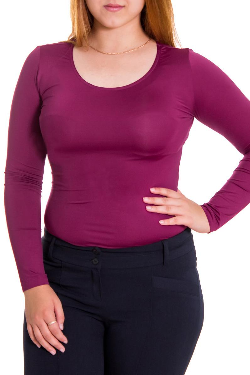 КомбидрессБоди<br>Комбидресс — это прекрасный компаньон для большинства юбок и брюк. Модели из тончайшей шерсти, нежной вискозы, с изящным кружевом гармонично впишутся в деловой гардероб и прекрасно подойдут для создания романтичного образа.  Цвет: фиолетовый  Рост девушки-фотомодели 169 см.<br><br>Горловина: С- горловина<br>По образу: Город,Свидание<br>По рисунку: Однотонные<br>По сезону: Весна,Всесезон,Зима,Лето,Осень<br>По форме: Блузка-боди<br>Рукав: Длинный рукав<br>По материалу: Трикотаж<br>По стилю: Офисный стиль,Повседневный стиль<br>Размер : 44,46<br>Материал: Холодное масло<br>Количество в наличии: 4