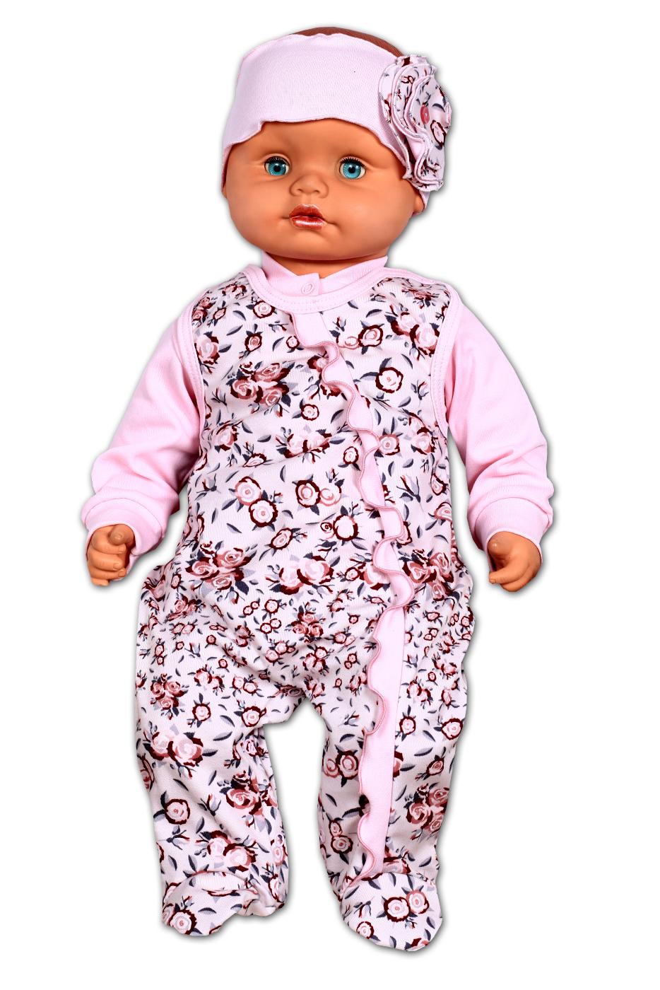 НаборКомплекты<br>Хлопковый комплект состоит из кофточки и комбинезона.  В изделии использованы цвета: розовый и др.   Размер соответствует росту ребенка<br><br>Размер : 56<br>Материал: Трикотаж<br>Количество в наличии: 1