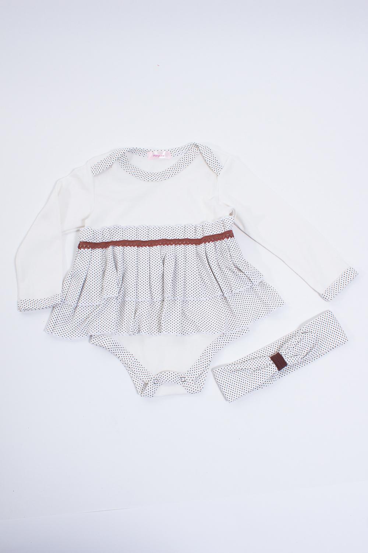 КомплектКомплекты<br>Мягкий комплект для девочки  Цвет: белый, коричневый  Размер соответствует росту ребенка.<br><br>По сезону: Всесезон<br>Размер : 86<br>Материал: Трикотаж<br>Количество в наличии: 1