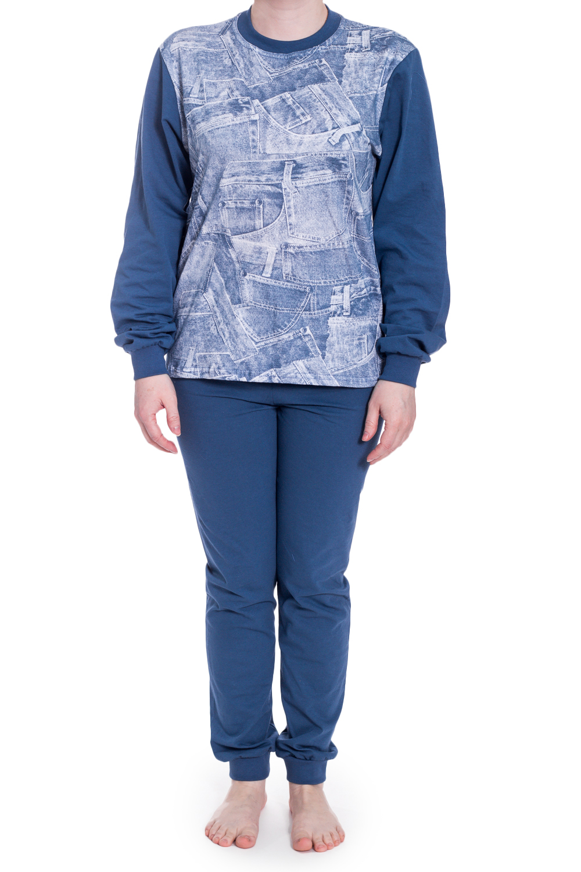 ПижамаПижамы<br>Трикотажная пижама для девочки.  В изделии использованы цвета: синий, голубой.<br><br>По сезону: Осень,Весна<br>Размер : 146,152<br>Материал: Трикотаж<br>Количество в наличии: 3