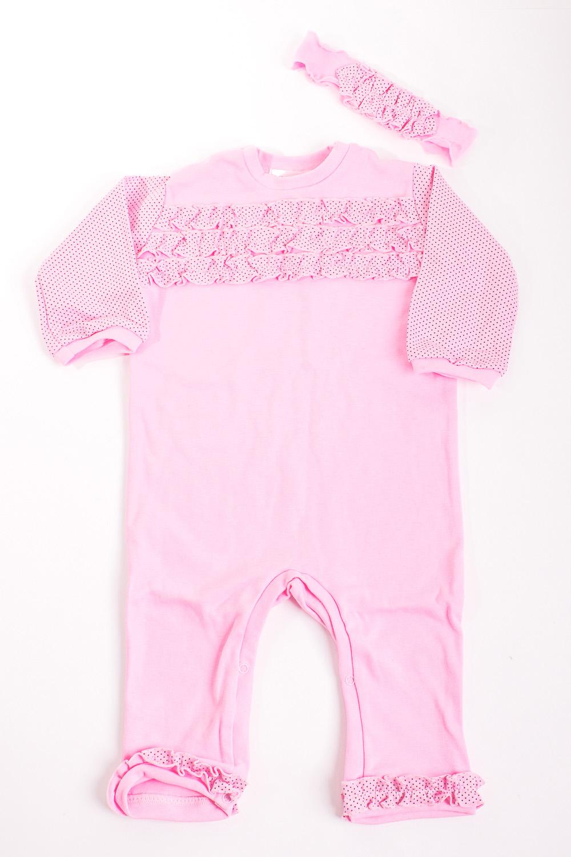 КомплектКомплекты<br>Мягкий комплект для девочки  Цвет: розовый  Размер соответствует росту ребенка.<br><br>По сезону: Всесезон<br>Размер : 56,62,68,74,80<br>Материал: Трикотаж<br>Количество в наличии: 12