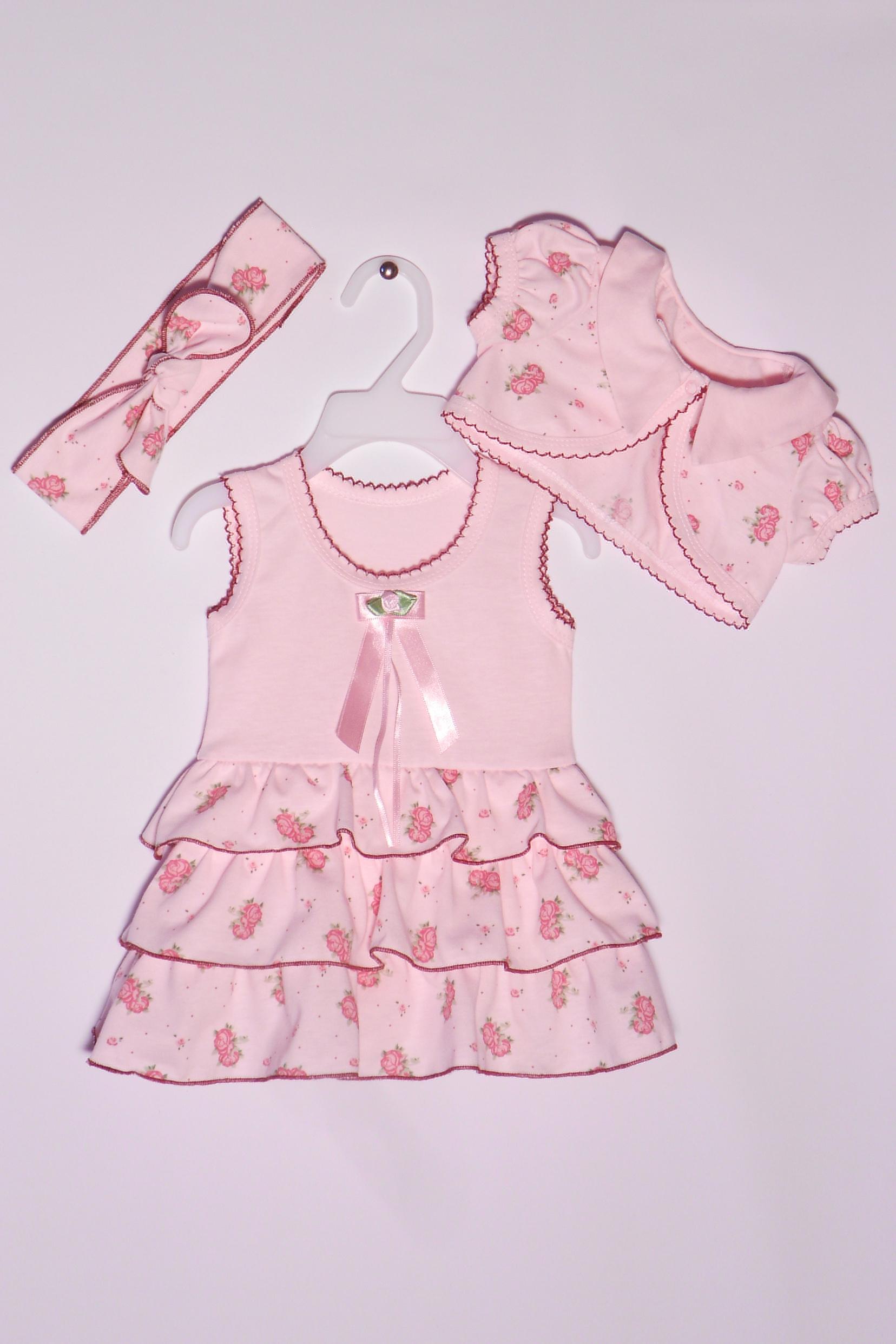 КомплектКомплекты<br>Хлопковый комплект для девочки  Цвет: розовый  Размер соответствует росту ребенка<br><br>По сезону: Всесезон<br>Размер : 68<br>Материал: Хлопок<br>Количество в наличии: 2