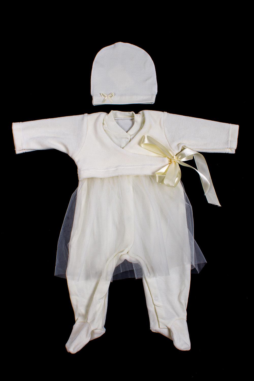 КомплектКомплекты<br>Велюровый комплект для ребенка.  В изделии использованы цвета: молочный  Размер соответствует росту ребенка<br><br>Размер : 62,68<br>Материал: Велюр + Гипюровая сетка<br>Количество в наличии: 2