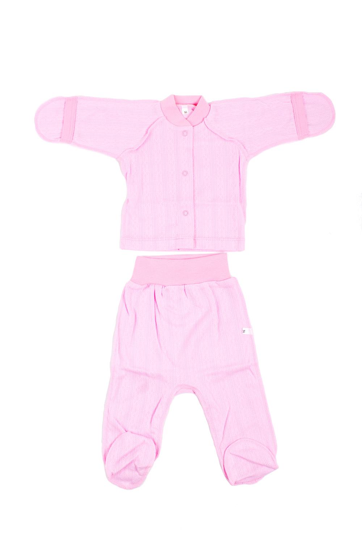 КомплектКомплекты<br>Хлопковый комплект для новорожденного.  В изделии использованы цвета: розовый.  Размер соответствует росту ребенка.<br><br>По сезону: Всесезон<br>Размер : 56,62<br>Материал: Хлопок<br>Количество в наличии: 2