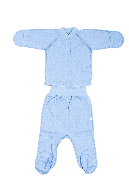 КомплектКомплекты<br>Хлопковый комплект для новорожденного.  В изделии использованы цвета: голубой  Размер соответствует росту ребенка.<br><br>По сезону: Всесезон<br>Размер : 62<br>Материал: Хлопок<br>Количество в наличии: 1