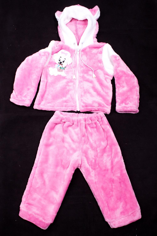 КостюмКомплекты<br>Мягкий костюм для девочки  В изделии использованы цвета: розовый и др.  Размер соответствует росту ребенка<br><br>По сезону: Осень,Весна<br>Размер : 74<br>Материал: Велсофт<br>Количество в наличии: 1