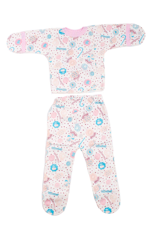 КомплектКомплекты<br>Хлопковый комплект для новорожденного.  В изделии использованы цвета: розовый, голубой и др.  Размер соответствует росту ребенка.<br><br>По сезону: Всесезон<br>Размер : 50,56<br>Материал: Хлопок<br>Количество в наличии: 2