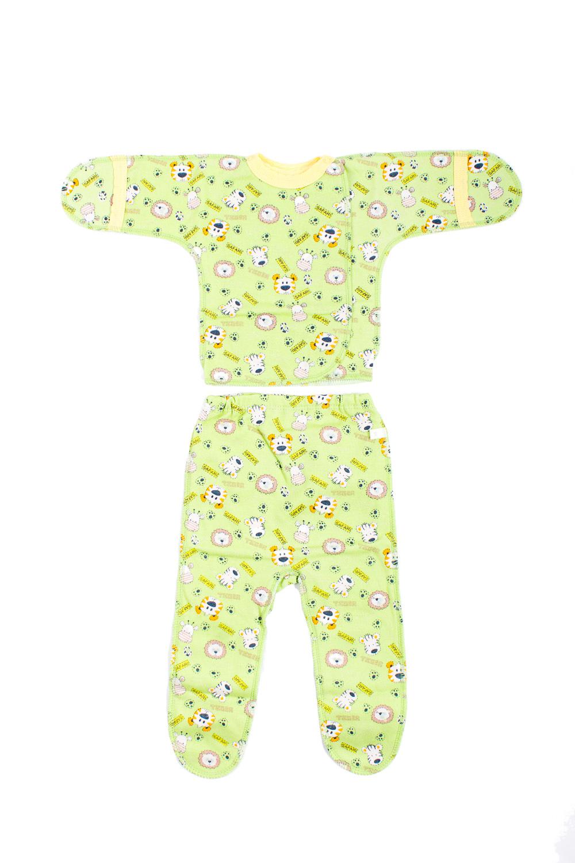 КомплектКомплекты<br>Хлопковый комплект для новорожденного.  В изделии использованы цвета: зеленый и др.  Размер соответствует росту ребенка.<br><br>По сезону: Всесезон<br>Размер : 50<br>Материал: Хлопок<br>Количество в наличии: 1