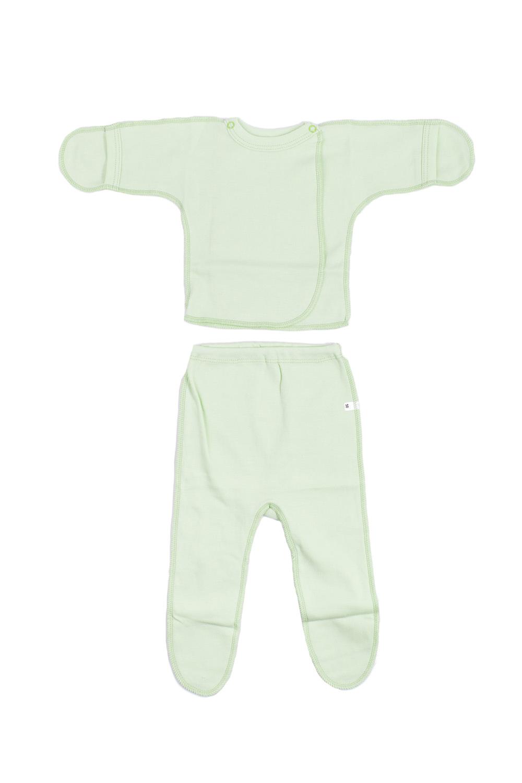 КомплектКомплекты<br>Хлопковый комплект для новорожденного.  В изделии использованы цвета: зеленый  Размер соответствует росту ребенка.<br><br>По сезону: Всесезон<br>Размер : 50<br>Материал: Хлопок<br>Количество в наличии: 1
