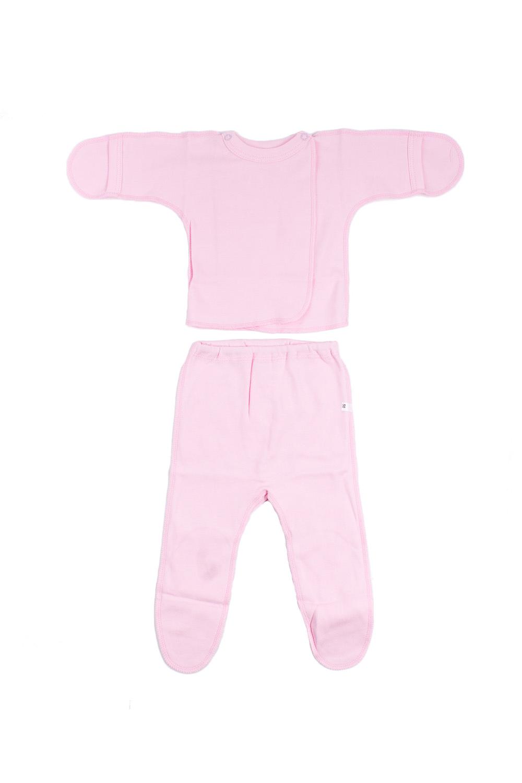 КомплектКомплекты<br>Хлопковый комплект для новорожденного.  В изделии использованы цвета: розовый  Размер соответствует росту ребенка.<br><br>По сезону: Всесезон<br>Размер : 50<br>Материал: Хлопок<br>Количество в наличии: 1