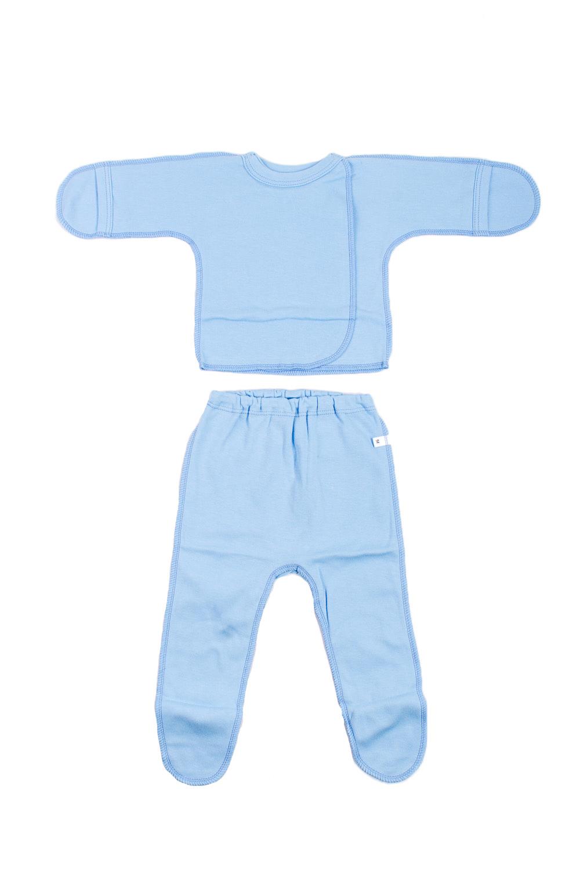 КомплектКомплекты<br>Хлопковый комплект для новорожденного.  В изделии использованы цвета: голубой  Размер соответствует росту ребенка.<br><br>По сезону: Всесезон<br>Размер : 56<br>Материал: Хлопок<br>Количество в наличии: 1