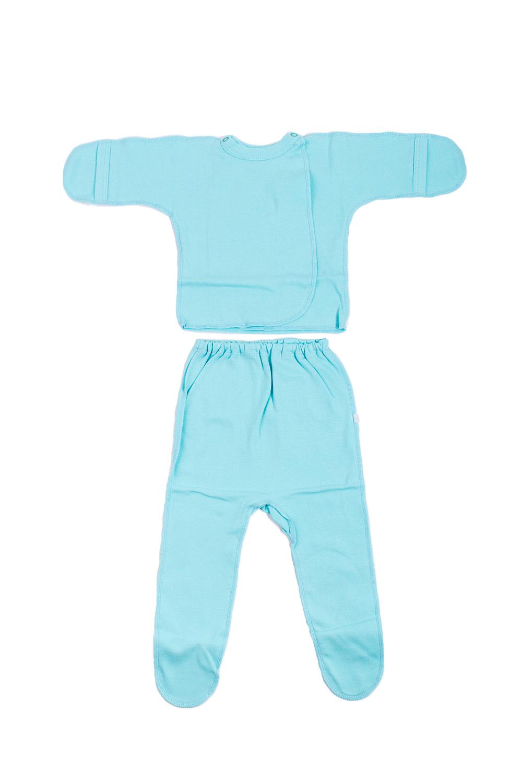КомплектКомплекты<br>Хлопковый комплект для новорожденного.  В изделии использованы цвета: бирюзовый  Размер соответствует росту ребенка.<br><br>По сезону: Всесезон<br>Размер : 62<br>Материал: Хлопок<br>Количество в наличии: 1