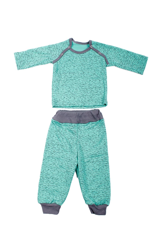 КомплектКостюмы<br>Трикотажный комплект для мальчика  В изделии использованы цвета: зеленый, серый  Размер соответствует росту ребенка.<br><br>Горловина: С- горловина<br>По возрасту: Ясельные ( от 1 до 3 лет)<br>По длине: Макси<br>По материалу: Трикотажные,Хлопковые<br>По образу: Повседневные<br>По рисунку: С принтом (печатью),Цветные<br>По сезону: Зима,Осень,Весна<br>По силуэту: Полуприталенные<br>По форме: Брючные,Костюм двойка<br>Рукав: Длинный рукав,С манжетой<br>Размер : 68,80,86<br>Материал: Трикотаж<br>Количество в наличии: 3