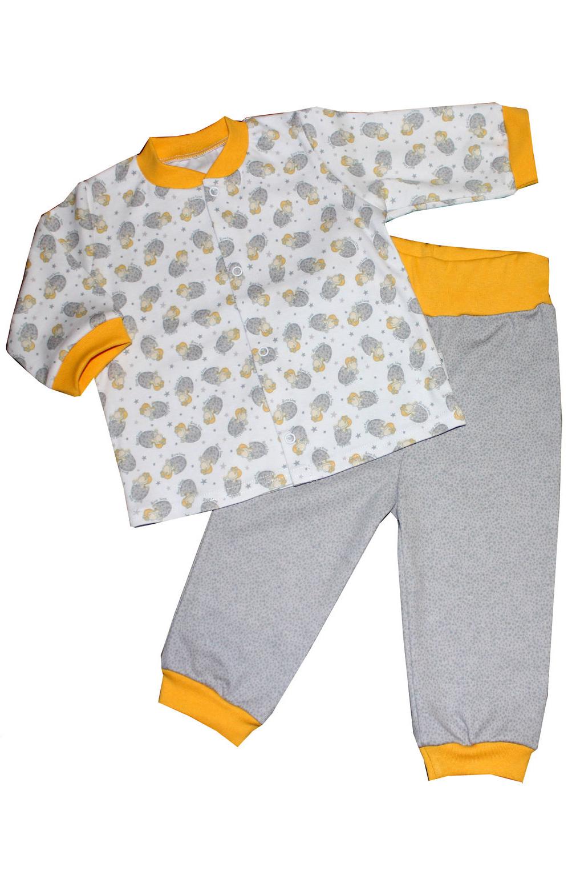 КомплектКостюмы<br>Хлопковый комплект для мальчика  Цвет: серый, белый, желтый  Размер соответствует росту ребенка.<br><br>Горловина: С- горловина<br>По длине: Макси<br>По материалу: Трикотажные,Хлопковые<br>По образу: Повседневные,Уличные<br>По рисунку: Цветные<br>По сезону: Весна,Осень<br>По силуэту: Полуприталенные<br>По форме: Брючные,Костюм двойка<br>Рукав: Длинный рукав<br>По возрасту: Ясельные ( от 1 до 3 лет)<br>Размер : 62,68<br>Материал: Хлопок<br>Количество в наличии: 5