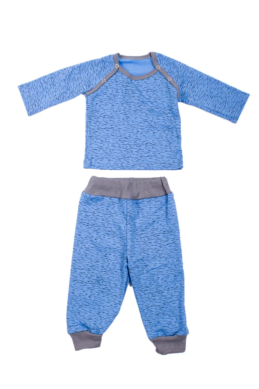 КомплектКостюмы<br>Трикотажный комплект для мальчика  В изделии использованы цвета: голубой, серый  Размер соответствует росту ребенка.<br><br>Горловина: С- горловина<br>По возрасту: Ясельные ( от 1 до 3 лет)<br>По длине: Макси<br>По материалу: Трикотажные,Хлопковые<br>По образу: Повседневные<br>По рисунку: С принтом (печатью),Цветные<br>По сезону: Зима,Осень,Весна<br>По силуэту: Полуприталенные<br>По форме: Брючные,Костюм двойка<br>Рукав: Длинный рукав,С манжетой<br>Размер : 68,74,86<br>Материал: Трикотаж<br>Количество в наличии: 3