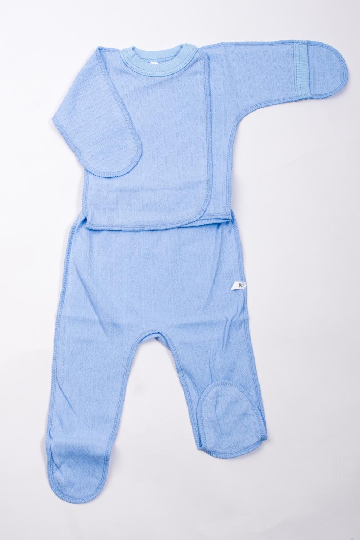 КомплектКомплекты<br>Хлопковый комплект для новорожденного.  В изделии использованы цвета: голубой  Размер соответствует росту ребенка.<br><br>По сезону: Всесезон<br>Размер : 50<br>Материал: Хлопок<br>Количество в наличии: 1