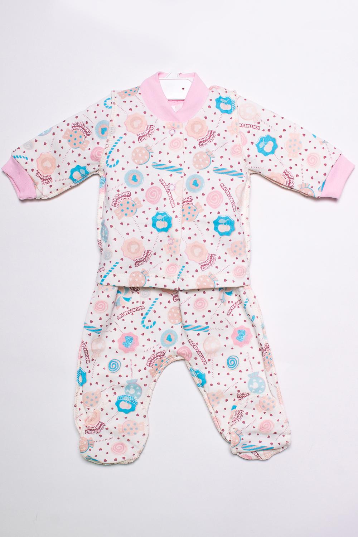 КомплектКомплекты<br>Хлопковый комплект для новорожденного.  В изделии использованы цвета: белый, розовый и др.  Размер соответствует росту ребенка.<br><br>По сезону: Всесезон<br>Размер : 56<br>Материал: Хлопок<br>Количество в наличии: 1