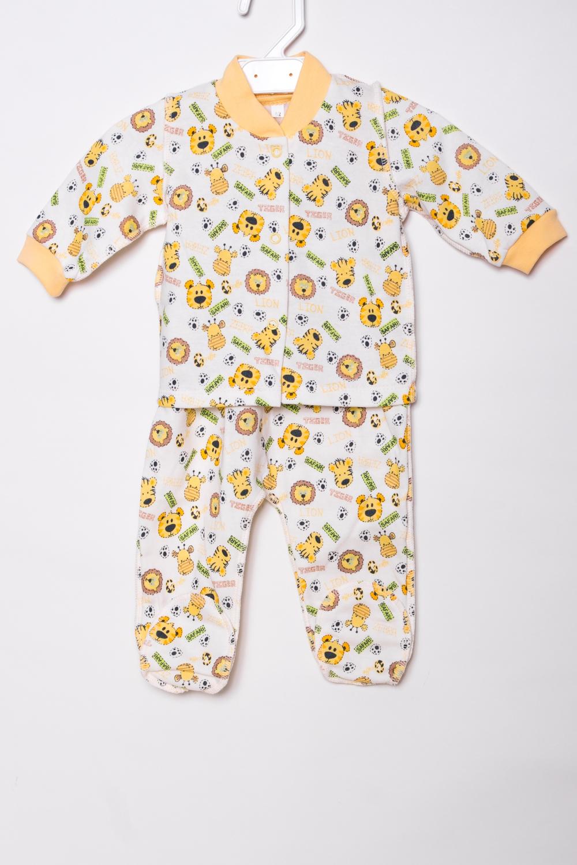 КомплектКомплекты<br>Хлопковый комплект для новорожденного.  В изделии использованы цвета: белый, желтый и др.  Размер соответствует росту ребенка.<br><br>По сезону: Всесезон<br>Размер : 62<br>Материал: Хлопок<br>Количество в наличии: 1