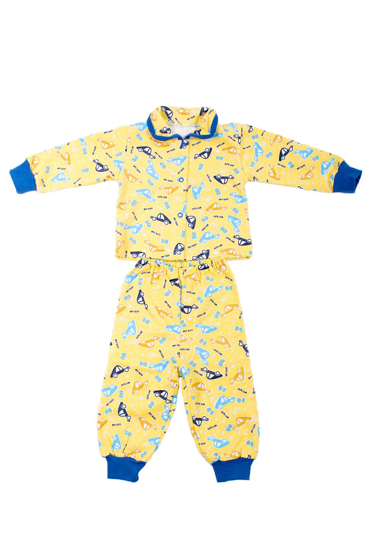 КомплектКостюмы<br>Трикотажный комплект для мальчика  В изделии использованы цвета: желтый, синий и др.  Размер соответствует росту ребенка.<br><br>Воротник: Отложной<br>Горловина: С- горловина<br>По возрасту: Ясельные ( от 1 до 3 лет)<br>По материалу: Хлопковые<br>По образу: Повседневные<br>По рисунку: С принтом (печатью),Цветные<br>По сезону: Зима,Осень,Весна<br>По силуэту: Полуприталенные<br>По форме: Брючные,Костюм двойка<br>Рукав: Длинный рукав,С манжетой<br>Размер : 68<br>Материал: Хлопок<br>Количество в наличии: 1