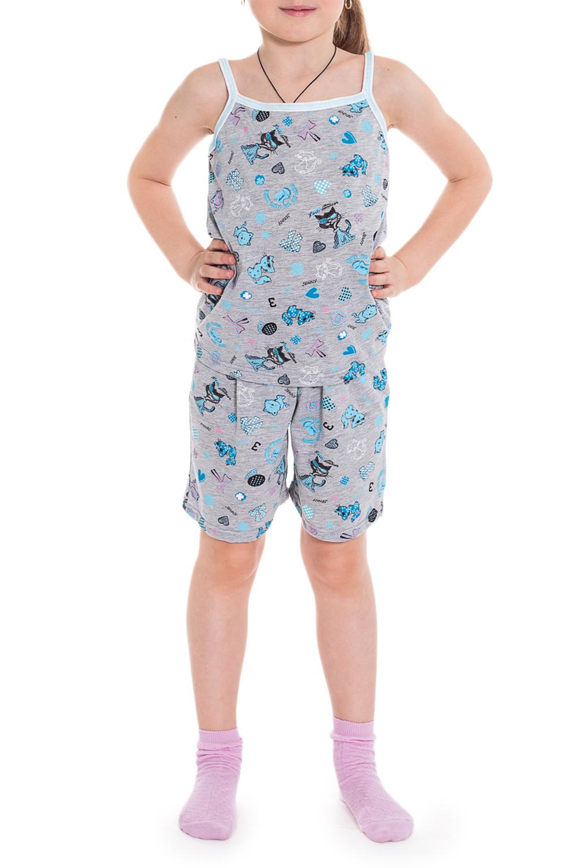 ПижамаПижамы<br>Хлопковая пижама для девочки. Пижама состоит из майки на тонких бретелях и шортиков.  Цвет: серый, черный, белый, голубой  Размер 74 соответствует росту 70-73 см Размер 80 соответствует росту 74-80 см Размер 86 соответствует росту 81-86 см Размер 92 соответствует росту 87-92 см Размер 98 соответствует росту 93-98 см Размер 104 соответствует росту 98-104 см Размер 110 соответствует росту 105-110 см Размер 116 соответствует росту 111-116 см Размер 122 соответствует росту 117-122 см Размер 128 соответствует росту 123-128 см Размер 134 соответствует росту 129-134 см Размер 140 соответствует росту 135-140 см Размер 146 соответствует росту 141-146 см Размер 152 соответствует росту 147-152 см Размер 158 соответствует росту 153-158 см Размер 164 соответствует росту 159-164 см<br><br>По сезону: Всесезон<br>Размер : 128<br>Материал: Хлопок<br>Количество в наличии: 1