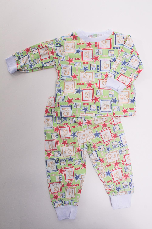 ПижамаКомплекты<br>Хлопковая пижама для новорожденного  Цвет: зеленый, мультицвет  Размер соответствует росту ребенка<br><br>По сезону: Осень,Весна<br>Размер : 68<br>Материал: Трикотаж<br>Количество в наличии: 1
