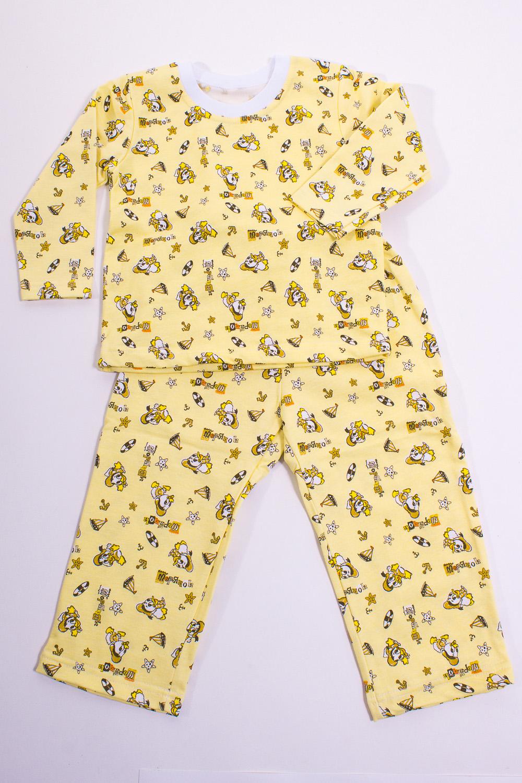 ПижамаПижамы<br>Плотный комплект из футболки с длинным рукавом и штанишек, плоская резинка, лицевая сторона гладкая, изнаночная - с мягким теплым начесом. Устойчив к появлению катышков и вытяжений - долго прослужат вам и не потеряют форму  Цвет: желтый, мультицвет  Размер 74 соответствует росту 70-73 см Размер 80 соответствует росту 74-80 см Размер 86 соответствует росту 81-86 см Размер 92 соответствует росту 87-92 см Размер 98 соответствует росту 93-98 см Размер 104 соответствует росту 98-104 см Размер 110 соответствует росту 105-110 см Размер 116 соответствует росту 111-116 см Размер 122 соответствует росту 117-122 см Размер 128 соответствует росту 123-128 см Размер 134 соответствует росту 129-134 см Размер 140 соответствует росту 135-140 см Размер 146 соответствует росту 141-146 см<br><br>По сезону: Осень,Весна<br>Размер : 98<br>Материал: Хлопок<br>Количество в наличии: 1