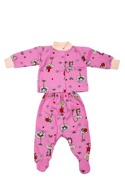 КомплектКомплекты<br>Трикотажный комплект для девочки  В изделии использованы цвета: розовый и др.  Размер соответствует росту ребенка<br><br>По сезону: Осень,Весна<br>Размер : 62<br>Материал: Хлопок<br>Количество в наличии: 1