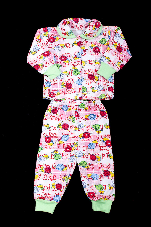 КомплектКомплекты<br>Трикотажный комплект для девочки  В изделии использованы цвета: белый, розовый и др.  Размер соответствует росту ребенка.<br><br>По сезону: Осень,Весна<br>Размер : 62<br>Материал: Хлопок<br>Количество в наличии: 1