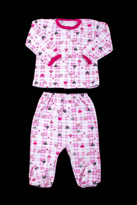 КомплектПижамы<br>Трикотажный комплект для девочки  В изделии использованы цвета: белый, розовый и др.  Размер соответствует росту ребенка.<br><br>По сезону: Осень,Весна<br>Размер : 62,86<br>Материал: Трикотаж<br>Количество в наличии: 2