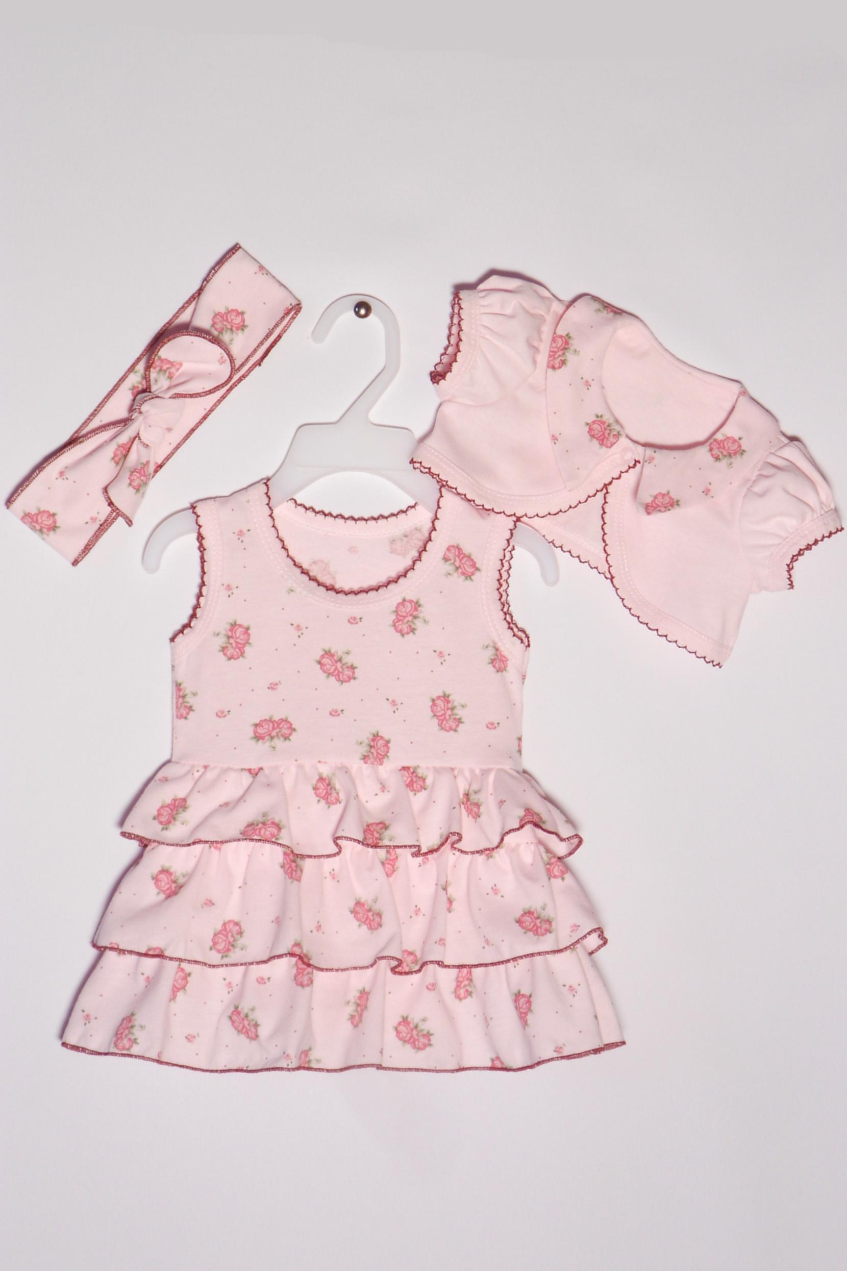 КомплектКомплекты<br>Хлопковый комплект для новорожденного  Цвет: розовый, мультицвет  Размер соответствует росту ребенка<br><br>По сезону: Осень,Весна<br>Размер : 68<br>Материал: Хлопок<br>Количество в наличии: 1