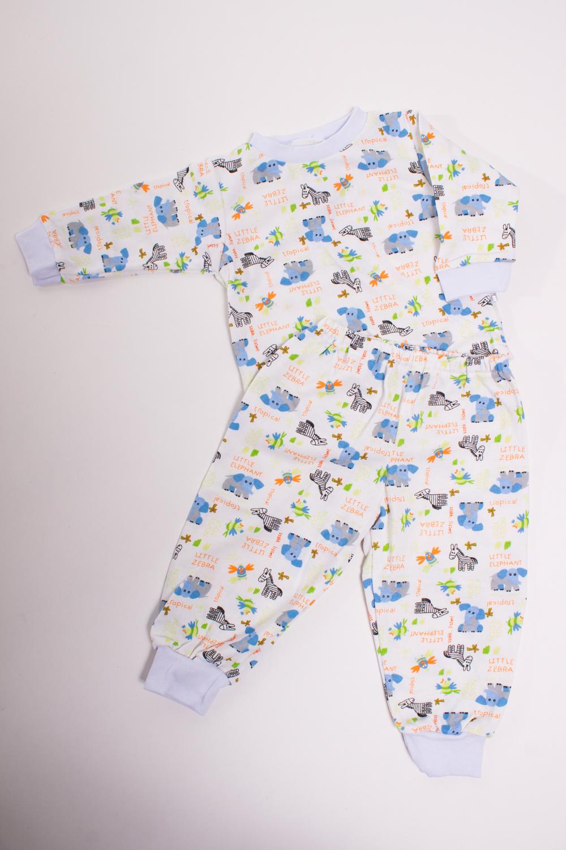 ПижамаКомплекты<br>Хлопковая пижама для новорожденного  Цвет: белый, мультицвет  Размер соответствует росту ребенка<br><br>По сезону: Осень,Весна<br>Размер: 68<br>Материал: 100% хлопок<br>Количество в наличии: 2