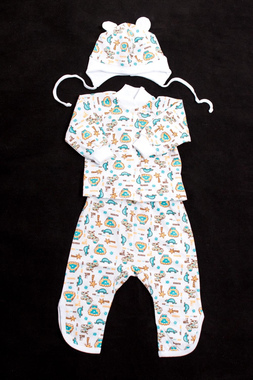 КомплектКостюмы<br>Хлопковый комплект для мальчика  Цвет: белый, мультицвет<br><br>По длине: Миди<br>По материалу: Трикотажные,Хлопковые<br>По образу: Повседневные<br>По рисунку: С принтом (печатью),Цветные<br>По силуэту: Полуприталенные<br>По форме: Брючные,Костюм двойка<br>Рукав: Длинный рукав,С манжетой<br>По сезону: Осень,Весна<br>По возрасту: Ясельные ( от 1 до 3 лет)<br>Воротник: Стойка<br>Размер : 62,74,80<br>Материал: Хлопок<br>Количество в наличии: 3