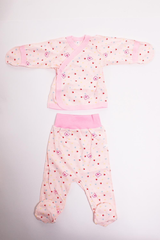 КомплектКомплекты<br>Хлопковый комплект для новорожденного  Цвет: розовый  Размер соответствует росту ребенка<br><br>По сезону: Всесезон<br>Размер : 56<br>Материал: Хлопок<br>Количество в наличии: 1