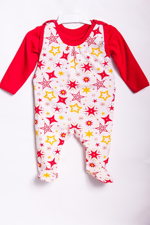 КомплектКомплекты<br>Хлопковый комплект для новорожденного (ползунки+кофточка).  В изделии использованы цвета: белый, красный, желтый.  Размер соответствует росту ребенка.<br><br>Горловина: С- горловина<br>По возрасту: Ясельные ( от 1 до 3 лет)<br>По материалу: Хлопковые<br>По образу: Повседневные<br>По рисунку: С принтом (печатью),Цветные<br>По сезону: Весна,Осень,Всесезон<br>По силуэту: Полуприталенные<br>По стилю: Повседневные<br>По форме: Костюм двойка<br>Рукав: Длинный рукав<br>Размер : 68,80<br>Материал: Хлопок<br>Количество в наличии: 2