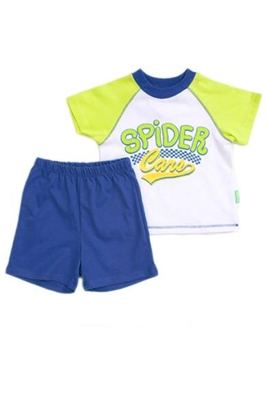КостюмКостюмы<br>Костюм (футболка+шорты) для мальчика.  Размер 74 соответствует росту 69-73 см Размер 80 соответствует росту 74-80 см Размер 86 соответствует росту 81-86 см Размер 92 соответствует росту 87-92 см Размер 98 соответствует росту 93-98 см  Цвет: белый, синий, зеленый<br><br>Горловина: С- горловина<br>По длине: Миди<br>По материалу: Трикотажные,Хлопковые<br>По образу: Повседневные,Спорт,Уличные<br>По рисунку: Цветные<br>По силуэту: Полуприталенные<br>По стилю: Летние,Спортивные<br>По форме: Брючные,Костюм двойка<br>По элементам: С карманами<br>Рукав: Короткий рукав<br>По сезону: Лето<br>По возрасту: Ясельные ( от 1 до 3 лет)<br>Размер : 80<br>Материал: Хлопок<br>Количество в наличии: 1